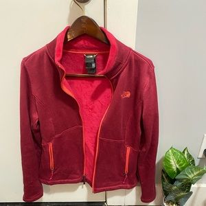 NEW North Face Red & Pink Fleece Jacket